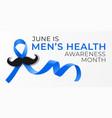 national men health awareness month banner vector image