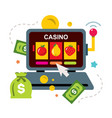 online casino concept gambling flat style vector image