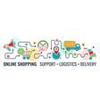online internet shopping banner vector image vector image
