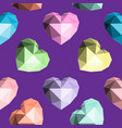 origami heart seamless pattern vector image