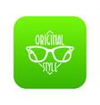 original style icon green vector image vector image
