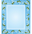 Ornate floral frame background vector image