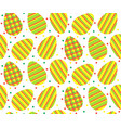 pattern striped eggs1 vector image vector image