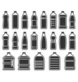 plastic bottles silhouette icon mineral water vector image vector image