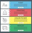 printing web banner templates set vector image
