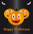 Pumpkins in a Halloween vector image