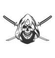 reaper skull in hood vector image vector image