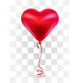 red valentines day balloon in form heart on vector image