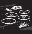 sea fish farm vector image