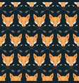 seamless native american pattern with foxes and vector image vector image