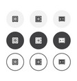 set 3 simple design vault icons rounded vector image