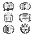 set of beer barrels isolated on white background vector image vector image