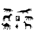 set of different animals vector image