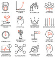 Set of icons related to business management - 4 vector image
