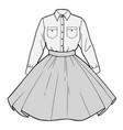 set womens clothing shirt and skirt vector image vector image