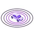 smart car sensor zone icon isometric style vector image vector image