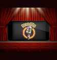 standup show online poster banner template vector image