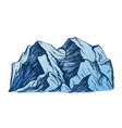 summit of mountain landscape color vector image vector image