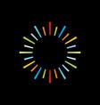 sun ray logo colorful vector image vector image
