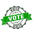vote stamp sign seal vector image vector image