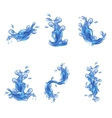 Water Splash Set vector image