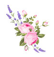 wedding flowers bouquet color bud garland vector image vector image