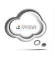 white 3d speech bubble concept vector image vector image