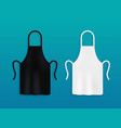 white and black kitchen aprons chef uniform for vector image vector image