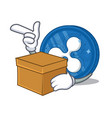 with box ripple coin character cartoon vector image