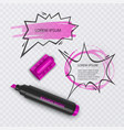 with realistic marker with vector image vector image