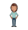 woman faceless avatar vector image vector image