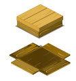wooden box fell apart on boards isolated on vector image vector image