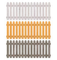 wooden picket fence vector image vector image