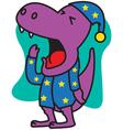 Yawn Dinosaur vector image vector image