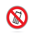 mobile phone no sign vector image