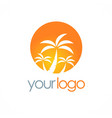 palm tree tropic plant logo vector image