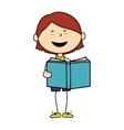 boy cartoon book happy isolated design vector image