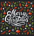 christmas postcard with christmas elements and vector image