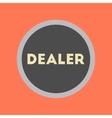flat icon stylish background poker chip dealer vector image