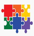lgbt puzzle2 resize vector image