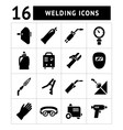 Set icons of welding vector image