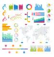big set of infographics elements graphics vector image