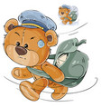 a brown teddy bear postman vector image