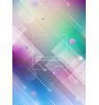 abstract geometric shapes on blurred colors vector image vector image