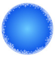 abstract round winter background vector image vector image