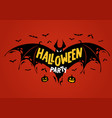advertising poster halloween party vector image vector image