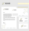 aeroplane business letterhead envelope and vector image vector image