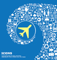 airplane sign symbol Nice set of beautiful icons vector image vector image