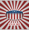 american 4th july independence day banner vector image vector image