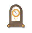 antique wooden clock icon vector image